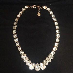 Charter Club gold tone clear rhinestone Necklace